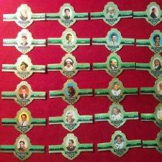 Vitolas de colección: SERIE COMPLETA 24 VITOLAS. PERSONAJES. SERIE C. CAPOTE.. Lote 221947622