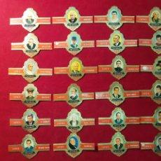 Vitolas de colección: SERIE COMPLETA 24 VITOLAS. PERSONAJES. SERIE A. CAPOTE.. Lote 221948468