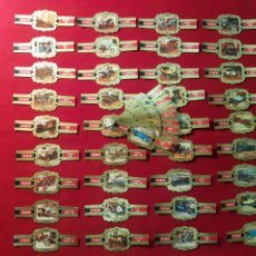 Vitolas de colección: SERIE COMPLETA 48 VITOLAS. COCHES ANTIGUOS. TAF.. Lote 221949722