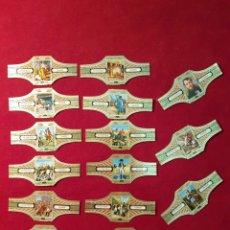 Vitolas de colección: SERIE COMPLETA 15 VITOLAS. NAPOLEÓN. VÍCTOR HUGO.. Lote 222022672