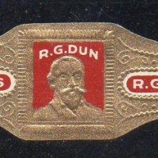 Anéis de charuto de coleção: VITOLA CLASICA: 154027, TEMA PERSONAJES, R.G. DUN. Lote 222055336