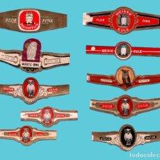 Vitole di collezione: 10 VITOLAS ANTIGUAS - MARCAS UILTJE Y WEISSE EULE - PROCEDENCIA HOLANDA - TEMÁTICA FAUNA - BUHOS. Lote 222165066