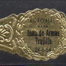 Vitolas de colección: VITOLA CLASICA: 162001, JUAN DE ARMAS, ISLAS CANARIAS.. Lote 222250785