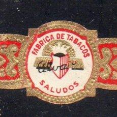 Vitolas de colección: VITOLA CLASICA: 162004, SALUDOS, ALVARO, ISLAS CANARIAS.. Lote 222250870