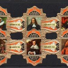 Vitolas de colección: ELISABETH BAS, FERDINAND BOL, FRAG. SERIE 1ª, GRAN FORMATO, NARANJA, 6 VITOLINAS, SERIE COMPLETA.. Lote 222329638