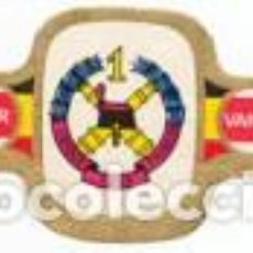 Vitolas de colección: VITOLAS MERCATOR SERIE INSIGNIAS MILITARES BELGAS 1ª - VER DISPONIBLES A 0,10 CADA UNA. Lote 222653012