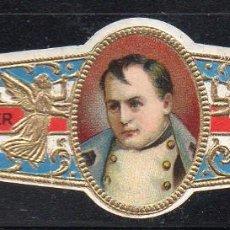 Vitolas de colección: VITOLA CLASICA: 165028, MILITARES Y POLITICOS DE FRANCIA, NAPOLEON, TALON 12503. Lote 222681352