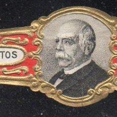 Vitolas de colección: VITOLA CLASICA: 165029, IMPERIO ALEMAN, PREDILECTOS BISMARCK, TALON 12606. Lote 222681388