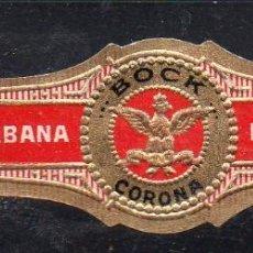 Vitolas de colección: VITOLA CLASICA: 171005, TEMA AGUILAS, CORONA, BOCK, CUBA. Lote 222681530