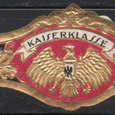 Vitolas de colección: VITOLA CLASICA: 171012, TEMA AGUILAS, KAISERKLASSE. Lote 222681828
