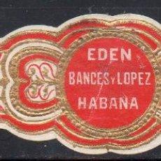 Vitolas de colección: VITOLA CLASICA: 172003, EDEN, BANCES Y LOPEZ, CUBA, GRANDE.. Lote 222682508