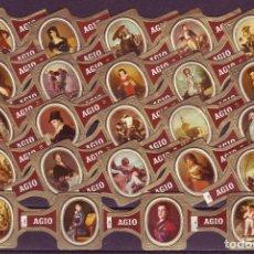 Vitolas de colección: AGIO, CUADROS DE GOYA, MARRON, 24 VITOLAS, SERIE COMPLETA.. Lote 222686507