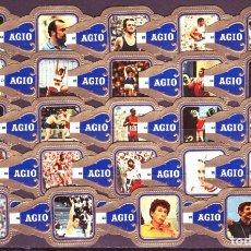 Vitolas de colección: AGIO, OLIMPIADAS 1972, SERIE 2ª, AZUL, 24 VITOLAS, SERIE COMPLETA.. Lote 222686660
