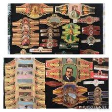 Vitolas de colección: LOTE DE 49 ANTIGUAS VITOLAS DE DIVERSAS COLECCIONES.. Lote 224773018