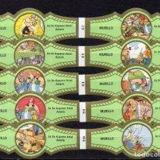 Bagues de cigare de collection: MURILLO, ASTERIX, SERIE D, VERDE/ORO, 10 VITOLAS, SERIE COMPLETA.. Lote 225571740