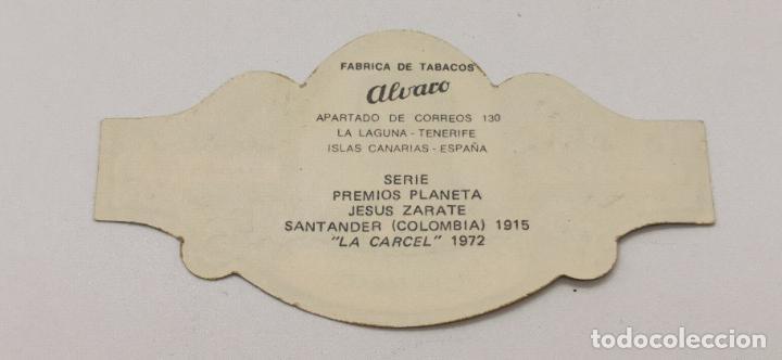 Vitolas de colección: Vitola Alvaro Serie premios planeta Jesus Zarate La carcel 1972 - Foto 2 - 226752100
