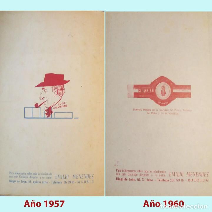 Vitolas de colección: PAREJA DE CATALOGOS VITOFILICOS EMILIO MENENDEZ AÑOS 1957 Y 1960. BIEN CONSERVADOS. MUY RAROS. - Foto 2 - 228945213