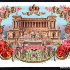 Vitolas de colección: VITOLA, ORIGINAL LITOGRAFÍA. HONOR ET PATRIA. TEMÁTICA: MONUMENTO VITTORIO ENMANUELE.. Lote 230499680