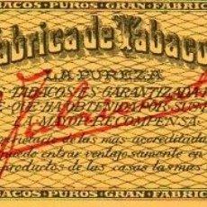 Anéis de charuto de coleção: LITOGRAFÍA - HABILITACIÓN - SELLO DE GARANTÍA FLOR FINA.. Lote 232461615