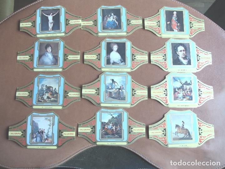 SERIE 12 VITOLAS ALVARO CUADROS PINTORES ESPAÑOLES GOYA (Coleccionismo - Objetos para Fumar - Vitolas)