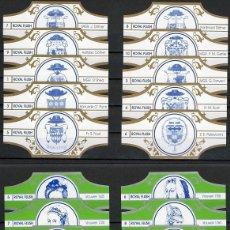 Vitolas de colección: LOTE DOS SERIES DE VITOLAS COMPLETAS. VROUWEN - ESCUDOS HERÁLDICOS.. Lote 235722715