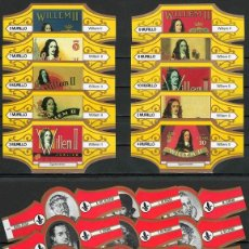 Vitolas de colección: LOTE DOS SERIES DE VITOLAS COMPLETAS. LITOGRAFÍAS WILLEM II - LITERATOS.. Lote 235726530
