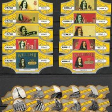 Vitolas de colección: LOTE DOS SERIES DE VITOLAS COMPLETAS. LITOGRAFÍAS WILLEM II - PARÍS.. Lote 235729100