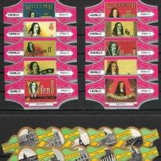 Vitolas de colección: LOTE DOS SERIES DE VITOLAS COMPLETAS. LITOGRAFÍAS WILLEM II - PARÍS.. Lote 235729760