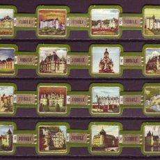 Anéis de charuto de coleção: JUBILE, CASTILLOS DE FRANCIA, VERDE, 24 VITOLAS, SERIE COMPLETA.. Lote 236804885