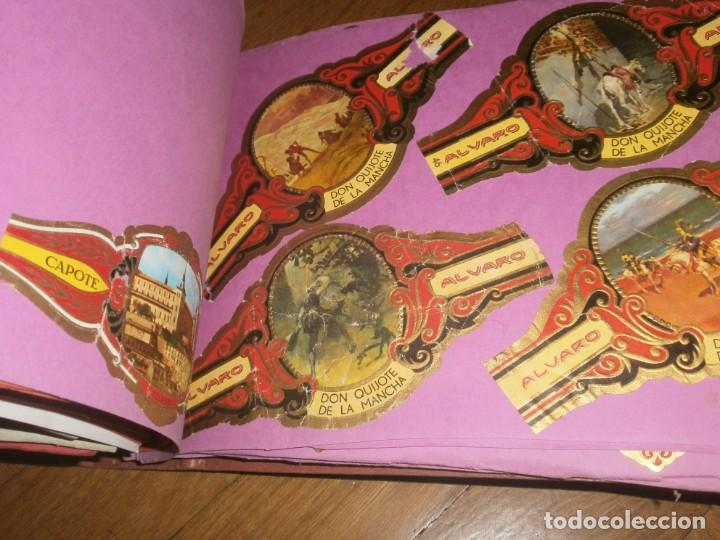 Vitolas de colección: Gran lote más de 400 vitolas Capote, Alvaro, personajes, Quijote, repetidas - solo valientes. - Foto 17 - 236989845