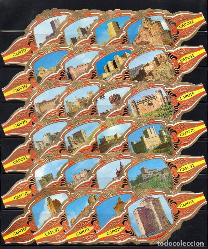 TABACOS CAPOTE, CASTILLOS DE ESPAÑA, 24 VITOLINAS, SERIE COMPLETA. (Coleccionismo - Objetos para Fumar - Vitolas)
