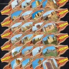 Vitolas de colección: TABACOS CAPOTE, CASTILLOS DE ESPAÑA, 24 VITOLINAS, SERIE COMPLETA.. Lote 237376275
