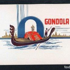 Vitolas de colección: VITOLA, ORIGINAL LITOGRAFÍA. GONDOLA. TEMÁTICA: TRANSPORTES.. Lote 241038210