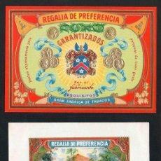 Vitolas de colección: VITOLAS, ORIGINAL LITOGRAFÍAS. LOTE DOS LITOGRAFÍAS. REGALIA DE PREFERENCIA.. Lote 241872375