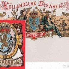 Vitolas de colección: VITOLAS, ORIGINAL LITOGRAFÍAS. LOTE DOS LITOGRAFÍAS. HOLLAND. SIGAREN. AMSTERDAN 1875... Lote 241873500