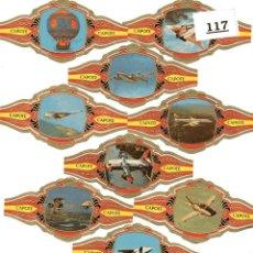 Vitolas de colección: 24 VITOLAS PUROS LOTE 117 AVIACION MUSICOS MARAVILLAS MUNDIALES. Lote 244204155
