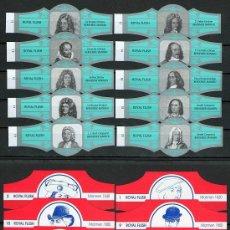 Vitole di collezione: LOTE DOS SERIES DE VITOLAS COMPLETAS. PERSONAJES FAMOSOS 11-20 - HOMBRES CON TOCADO.. Lote 244541065