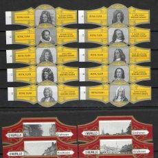 Vitole di collezione: LOTE DOS SERIES DE VITOLAS COMPLETAS. PERSONAJES FAMOSOS 11-20 - VISTAS EINDHOVEN.. Lote 244541410