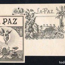 Vitole di collezione: VITOLAS, ORIGINAL LITOGRAFÍAS. LOTE DOS LITOGRAFÍAS. LA PAZ. TEMÁTICA: ELABORACIÓN DE TABACOS. Lote 244543595