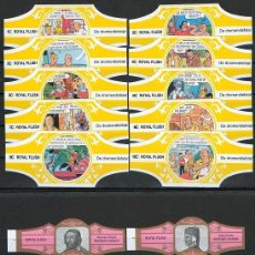 Vitole di collezione: LOTE DOS SERIES DE VITOLAS COMPLETAS. PERSONAJES FAMOSOS 1-10 (ORO) - DE DROMENDIEFTAL.. Lote 244694215