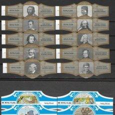 Vitole di collezione: LOTE DOS SERIES DE VITOLAS COMPLETAS. PERSONAJES FAMOSOS 1-10 (ORO) - HEILIG BLOED.. Lote 244694460