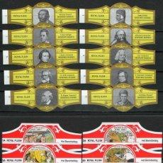 Vitole di collezione: LOTE DOS SERIES DE VITOLAS COMPLETAS. PERSONAJES FAMOSOS 1-10 (ORO) - HET BERENBEKLAG.. Lote 244694680