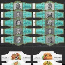 Vitole di collezione: LOTE DOS SERIES DE VITOLAS COMPLETAS. PERSONAJES FAMOSOS 1-10 (ORO) - DE BRIENSENDE BRUID.. Lote 244694950