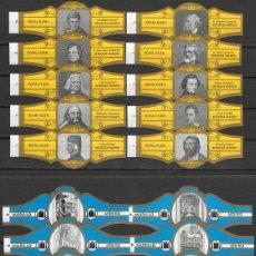 Vitole di collezione: LOTE DOS SERIES DE VITOLAS COMPLETAS. PERSONAJES FAMOSOS 1-10 (ORO) - OBRAS ANTON PIECK.. Lote 244695190