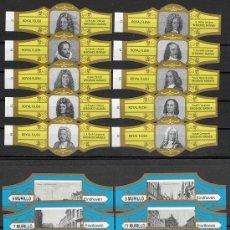 Vitole di collezione: LOTE DOS SERIES DE VITOLAS COMPLETAS. PERSONAJES FAMOSOS 11-20 (ORO) - EINDHOVEN.. Lote 244695865