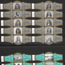 Vitole di collezione: LOTE DOS SERIES DE VITOLAS COMPLETAS. PERSONAJES FAMOSOS 11-20 (ORO) - HOTELES DE COSTA.. Lote 244695975