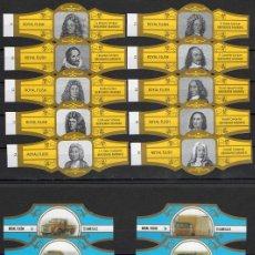 Vitole di collezione: LOTE DOS SERIES DE VITOLAS COMPLETAS. PERSONAJES FAMOSOS 11-20 (ORO) - VEHÍCULOS DAF (C).. Lote 244696990