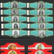 Vitole di collezione: LOTE DOS SERIES DE VITOLAS COMPLETAS. PERSONAJES FAMOSOS 11-20 (ORO) - DE BRIESENDE BRUID.. Lote 244697300