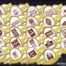 Vitolas de colección: ROYAL FLUSH, ANUNCIOS PUBLICITARIOS, BLANCO, 24 VITOLAS, SERIE COMPLETA.. Lote 244741880