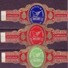 Vitolas de colección: LA ESMERALDA, GRUPO VITOLFILICO DE MADRID, LOTERIA DE NAVIDAD 1974, 3 VITOLAS, SERIE COMPLETA. Lote 244743660